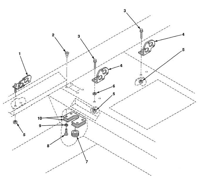 FIG. 347 CAB WIRING HARNESS BRACKETS AND COVER PLATE