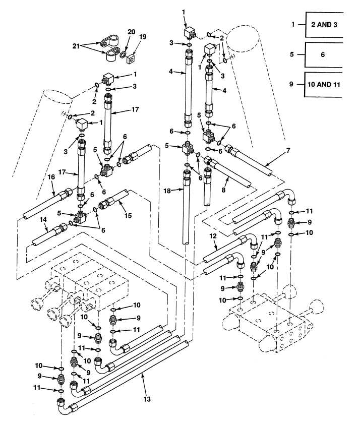 FIG. 391 OUTRIGGER HYDRAULIC PIPES, TUBES, HOSES AND FITTINGS