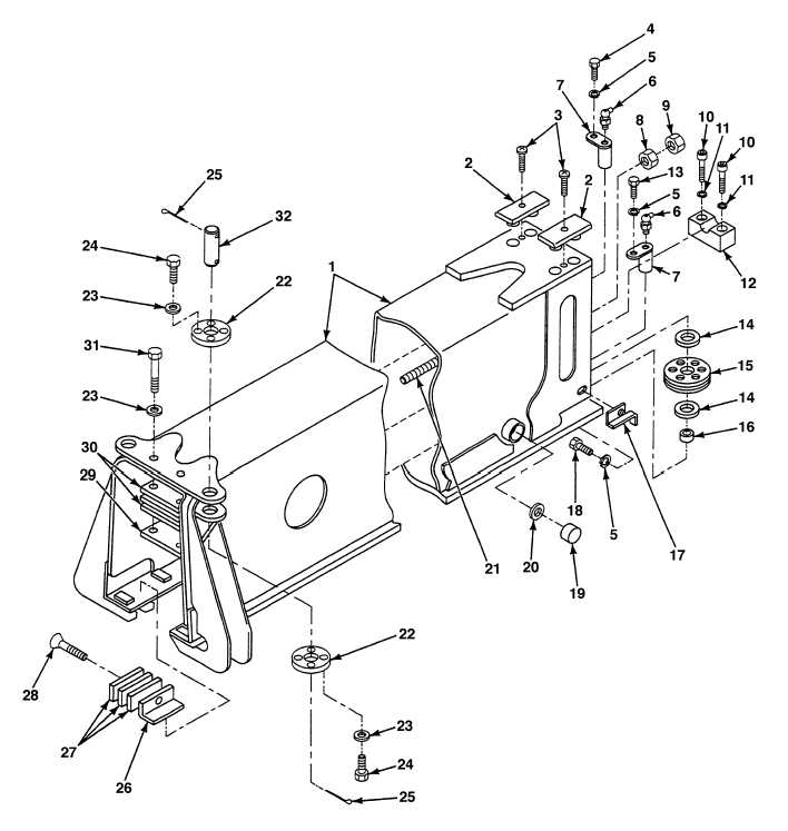 FIG. 364 CRANE BOOM ASSEMBLY INNER MID SECTION