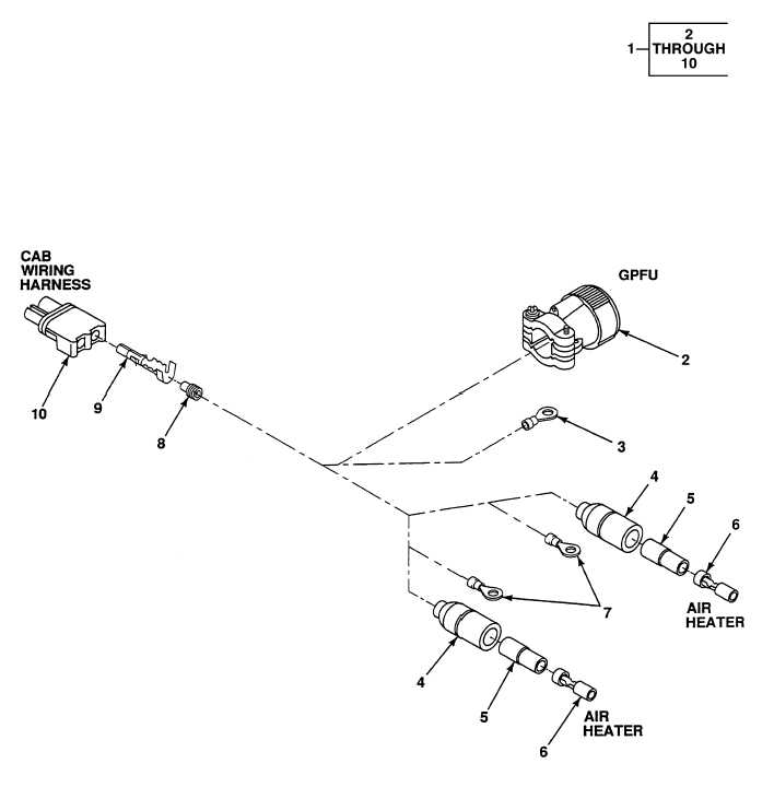 FIG. 525 GAS PARTICULATE FILTER UNIT KIT WIRING HARNESS