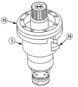 Do not weld wedge to swing drive gear reducer