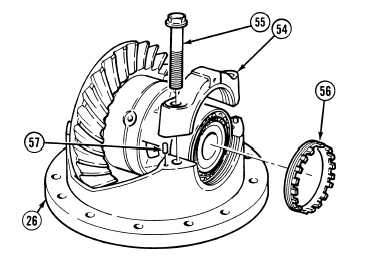 Install differential gear
