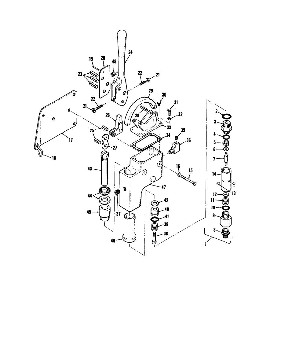 Figure 6-12. Hydraulic transmitter and relief valve