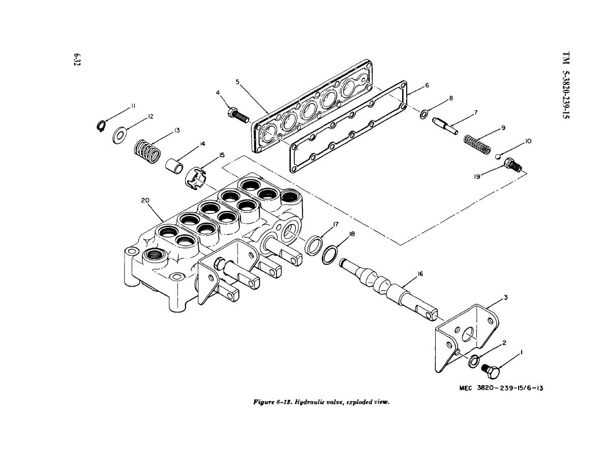 Figure 6-13. Hydraulic valve, exploded view