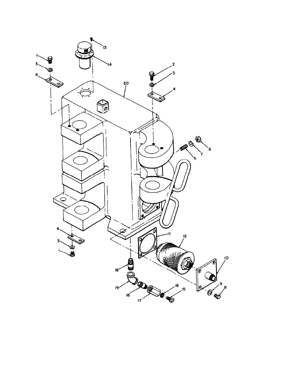 Figure 6-27. Boom base assembly, exploded view.