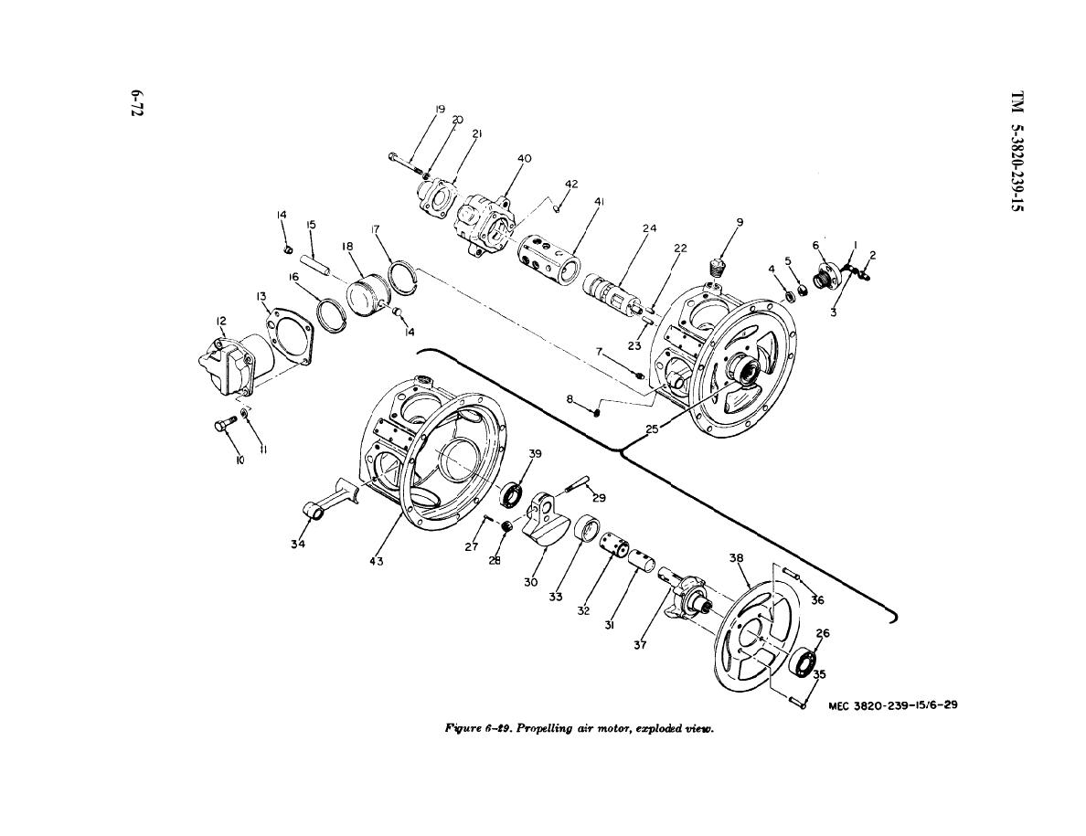 Figure 6-29. Propelling air motor exploded view