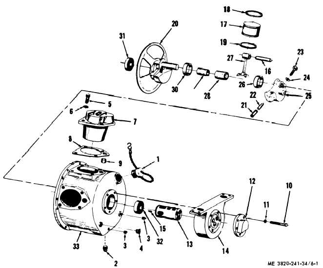 Figure 6-1. Tramming motor, disassembly and reassembly