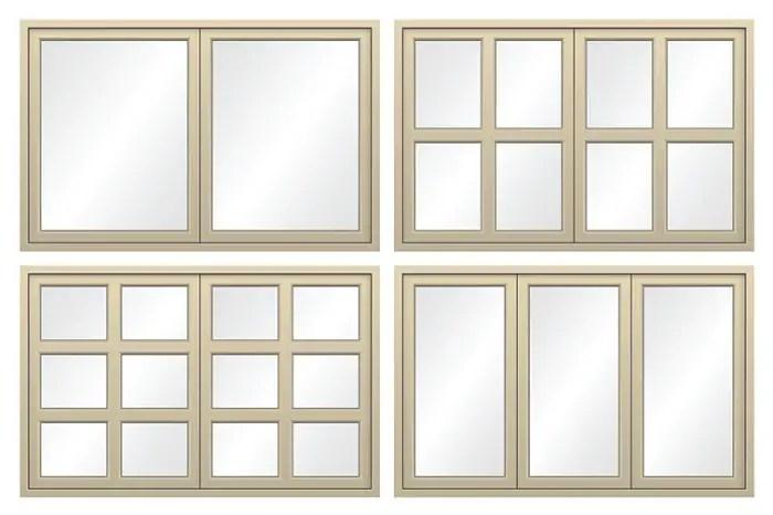 4 types of window frames