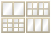 4 types of window frames