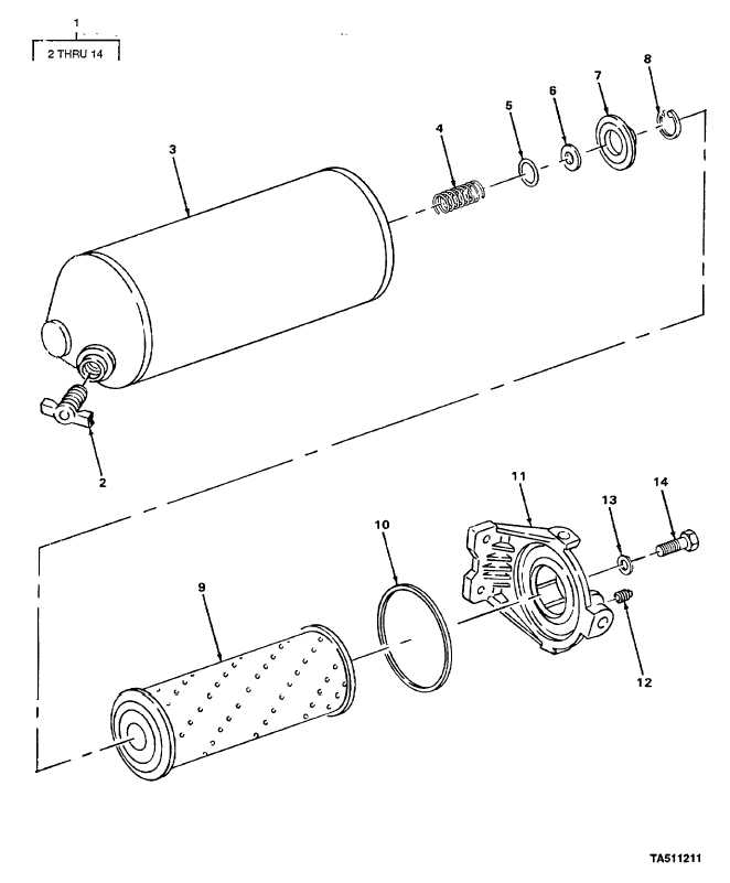 FIGURE 38. FUEL FILTER ASSEMBLY (6