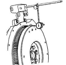 Locations for measuring the bore runout of the flywheel