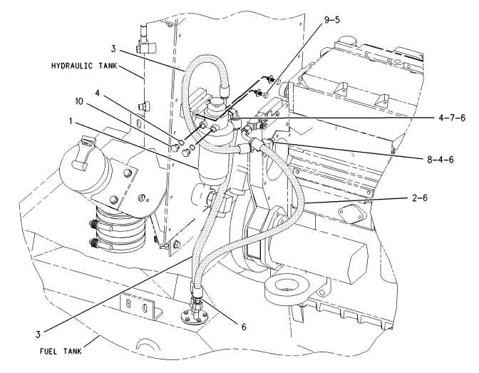 FUEL SYSTEM 143-6261 LINES GP-FUEL FILTER