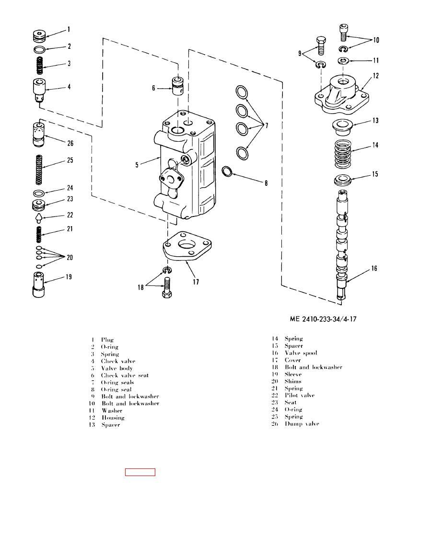 Figure 4-17. Tilt control valve disassembly.