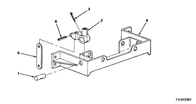 BACKHOE CONTROL VALVE LEVERS AND LINKAGE (SERIAL NUMBERS