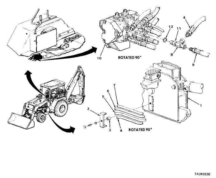 LOADER CONTROL VALVE-TO-LOADER BOOM CYLINDER HEAD END OIL