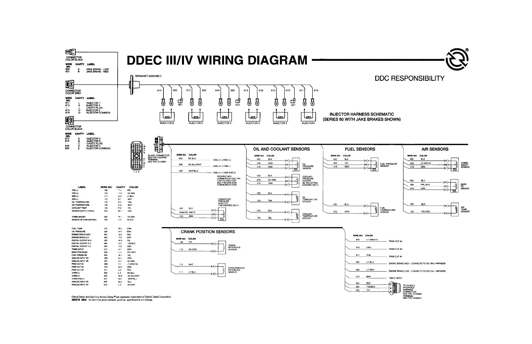 Wiring Schematic Ddec - Schema Wiring Diagrams on