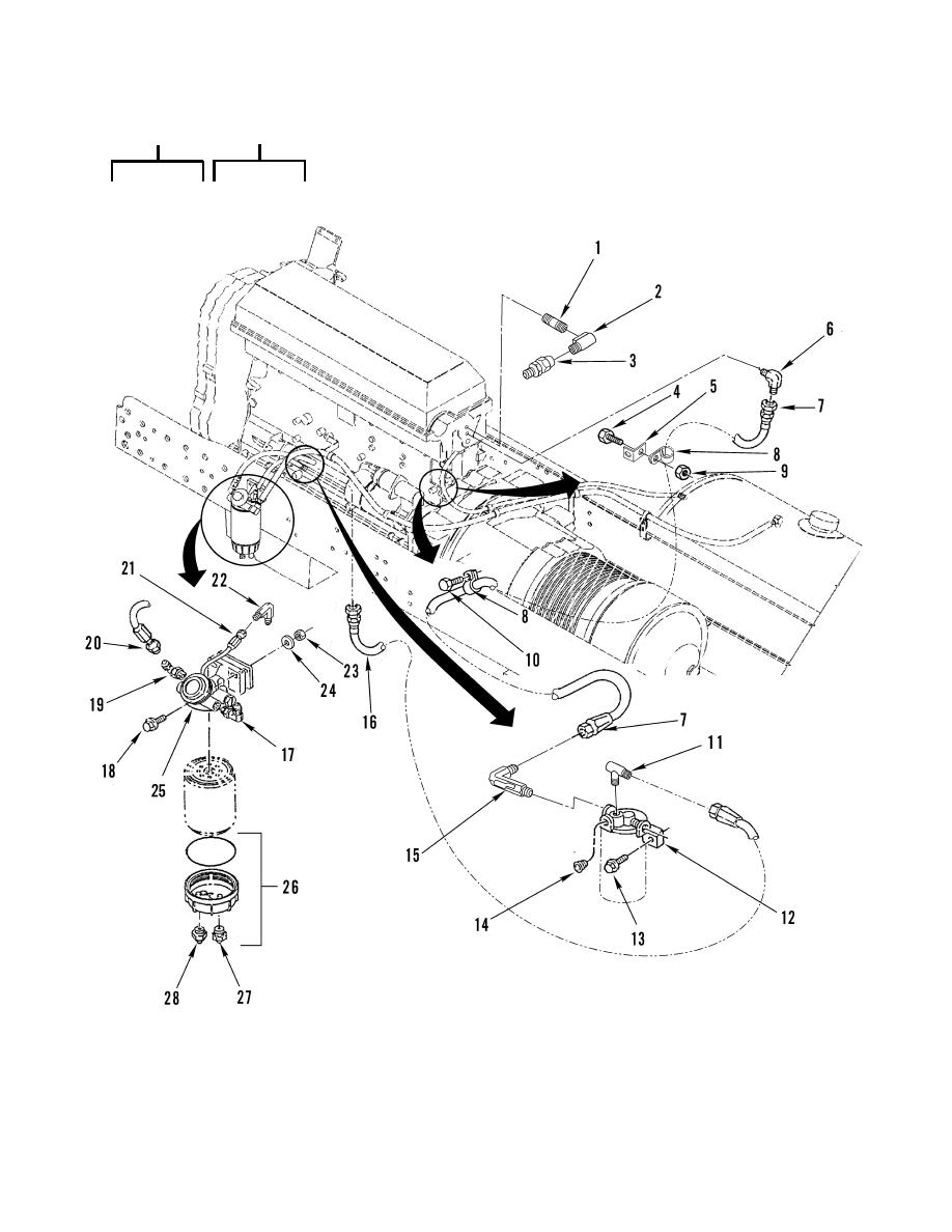 Figure 30. Fuel Filter, Hoses, Fittings and Adapters