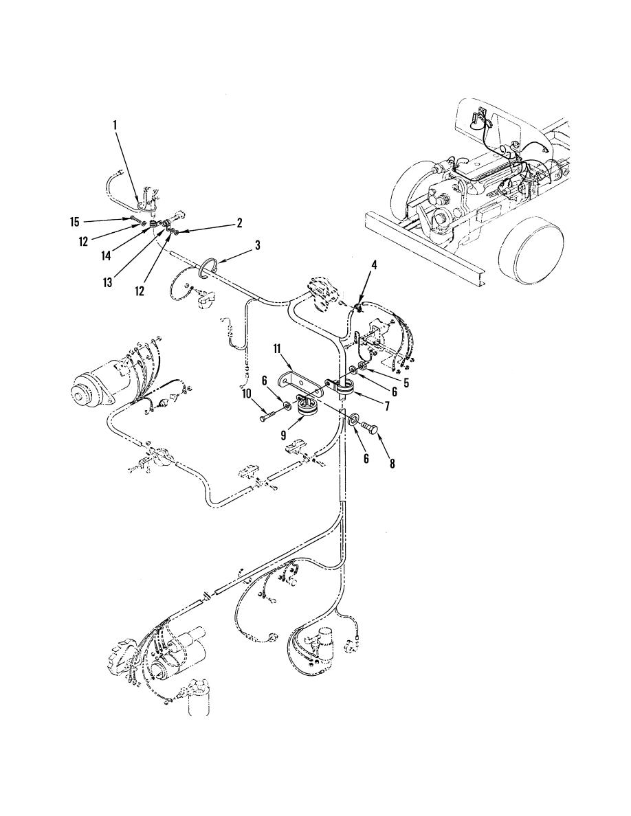 Figure 77. Engine Wiring Harness Mounting Hardware