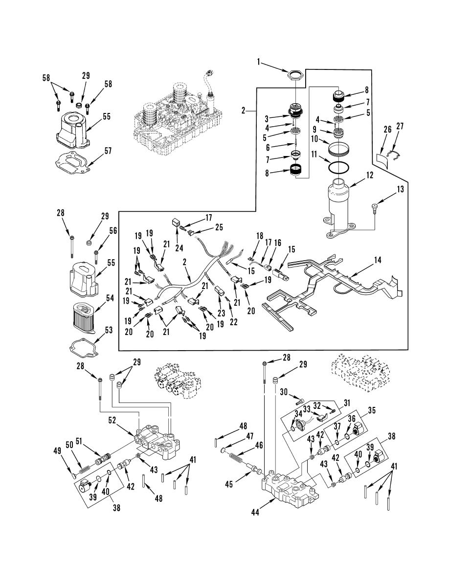 Figure 142. Control Valves and Wiring Harness (Sheet 1 of 2)