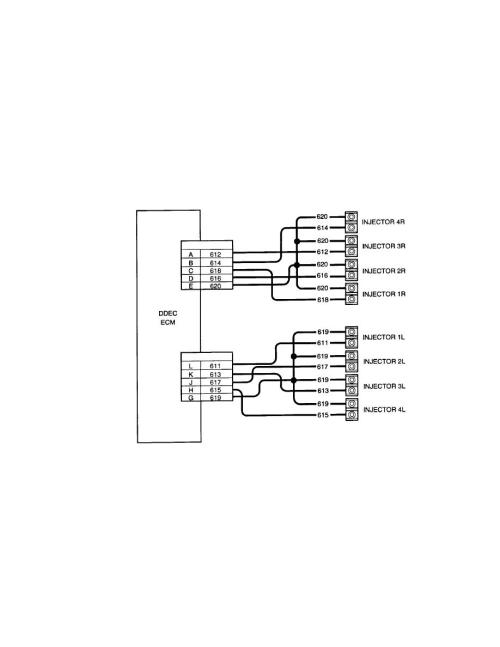 small resolution of ddec ii injector harness wiring schematic