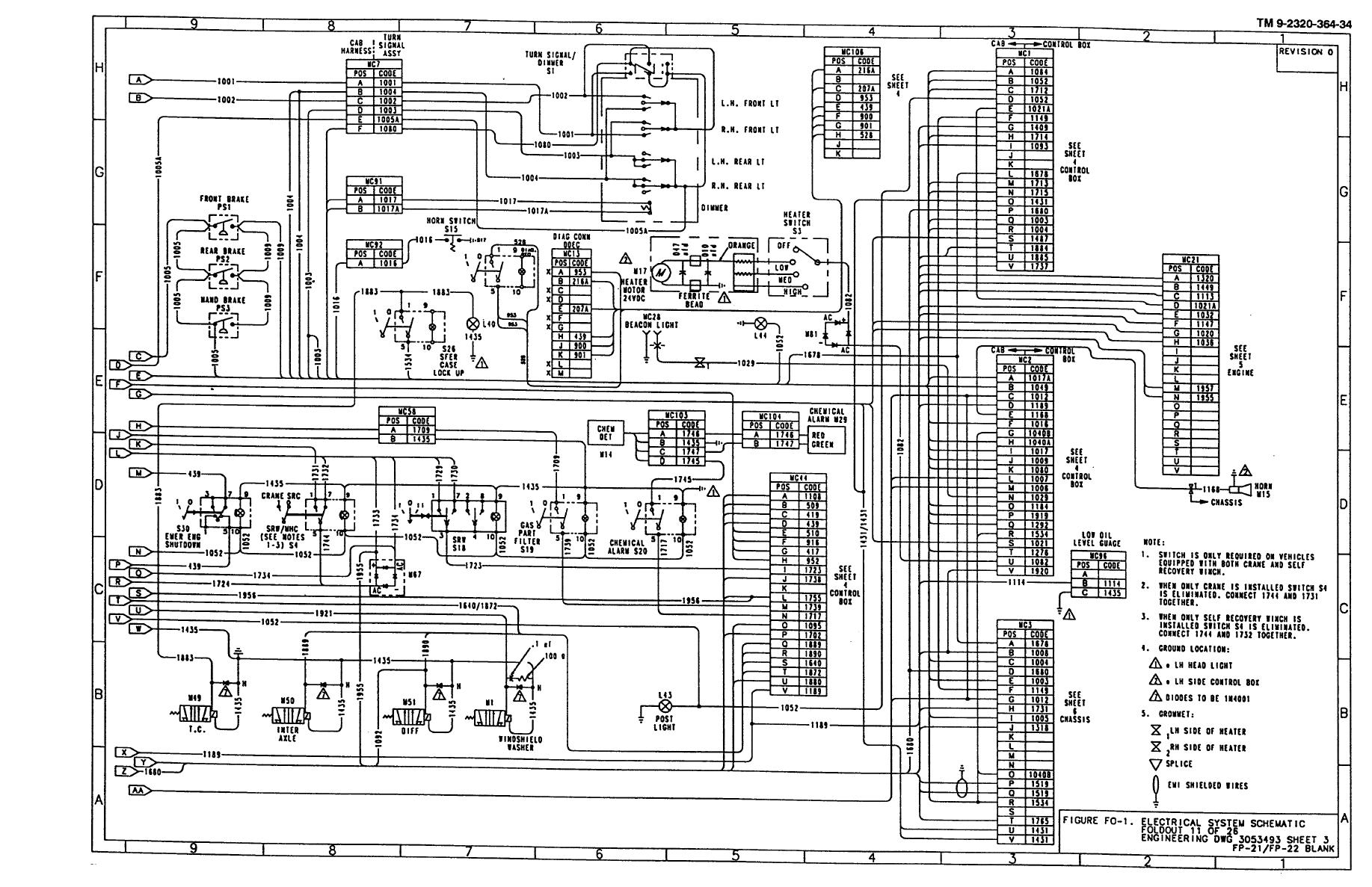 Figure Fo 1 Electrical System Schematic Foldout 11 Of 26