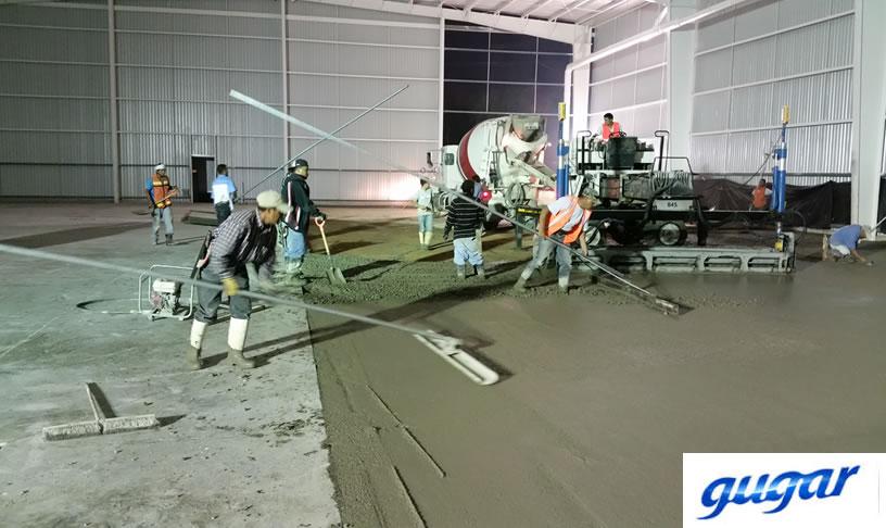 Construcción de pisos de concreto
