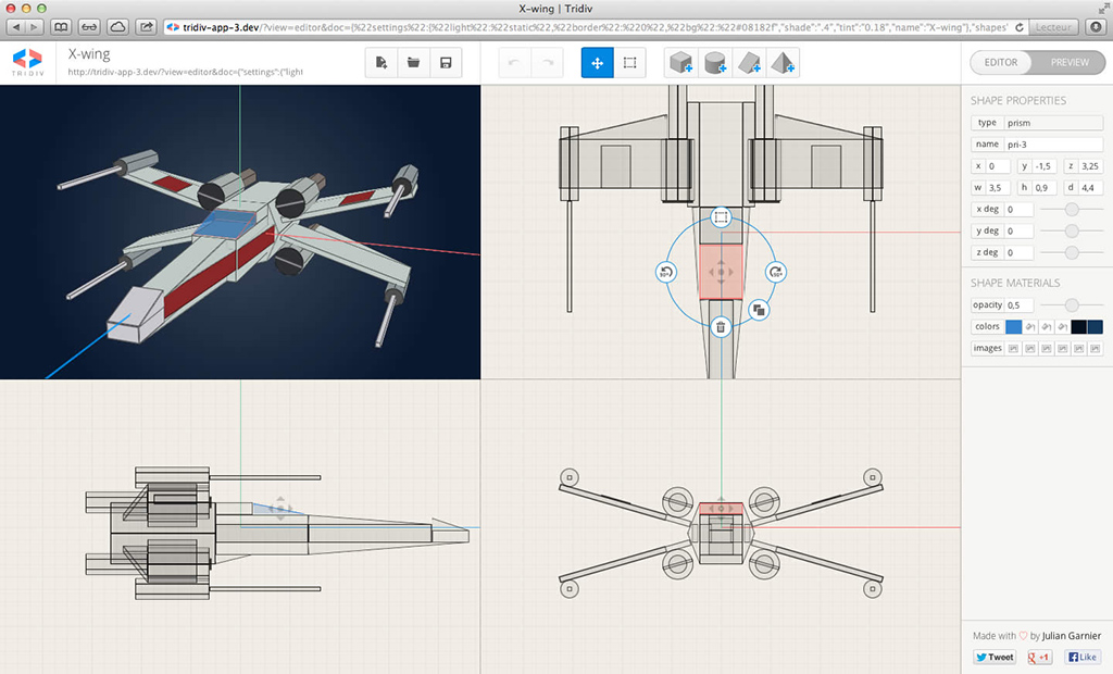 Interface with X-Wing