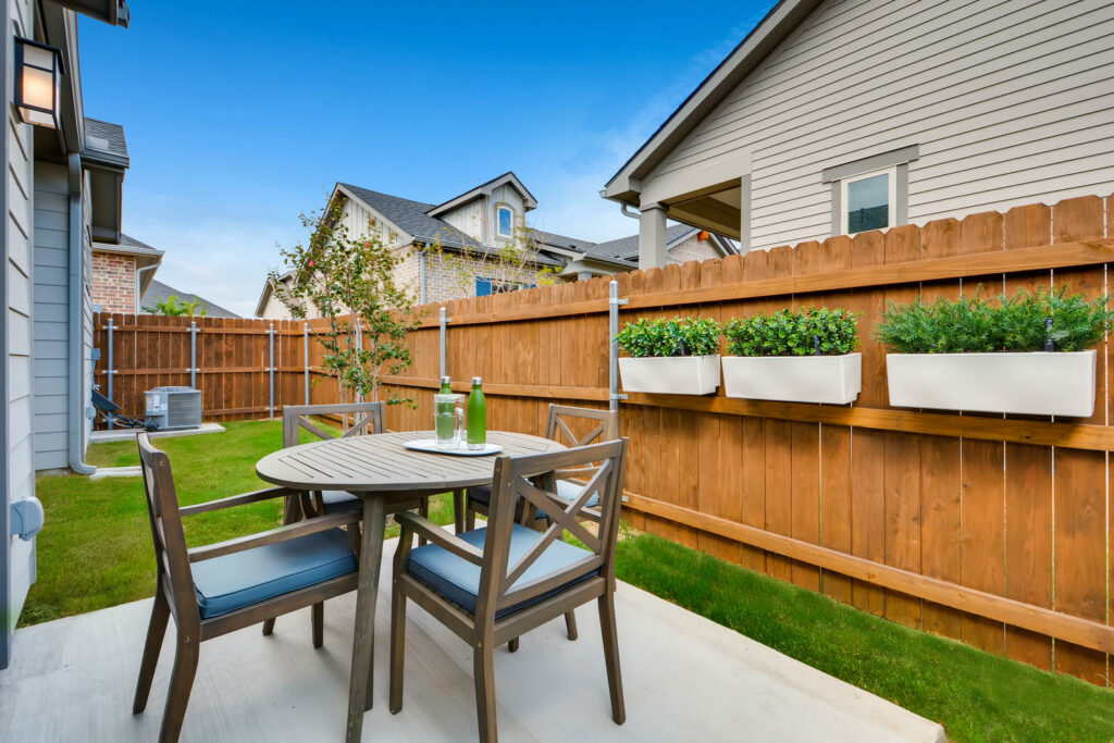 single-family outdoor space