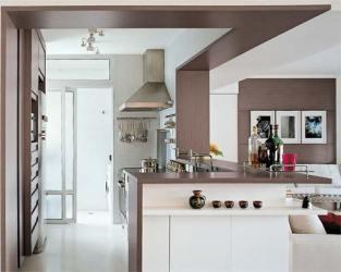 americanas cozinha cozinhas casas dentro casa americana pequenos ambientes ideias integrados sala apartamentos madeira claudia construdeia canto trabalho parede teto