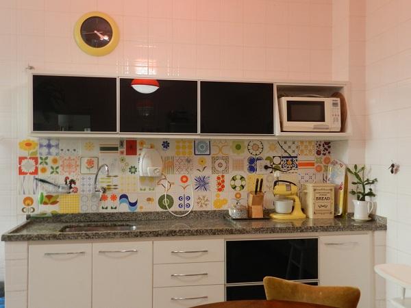 Cozinha com Azulejo Retro  Construdeiacom