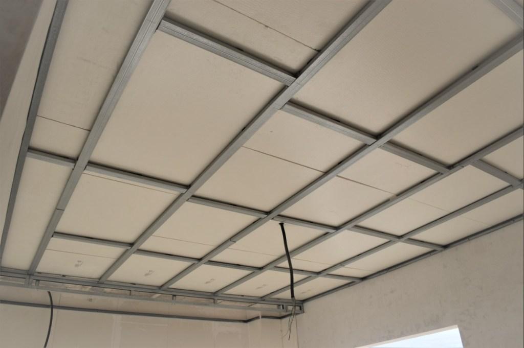 Estructura de sustentación para colocar falso techo