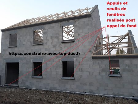travaux inachevés charpente TOP DUO AST GROUPE