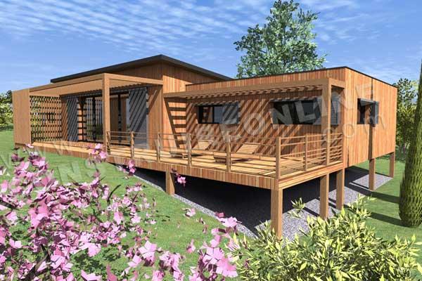 Plan de maison bois CHIC ET CHOC