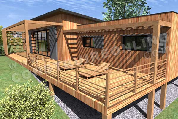 maison sur pilotis permis de construire. dcoration extension de ... - Construction D Une Terrasse En Bois Sur Pilotis