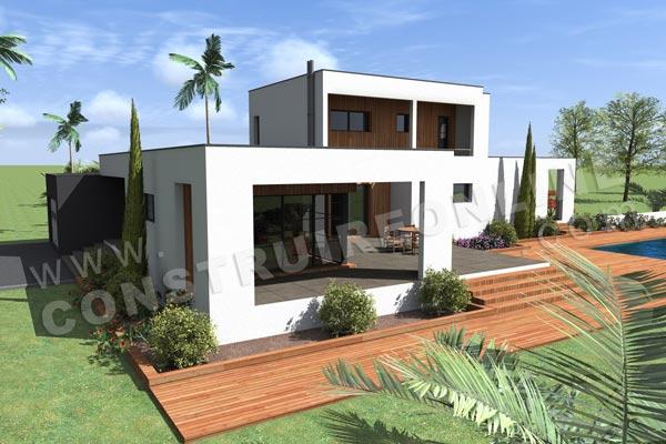 Plan de maison contemporaine HORIZON