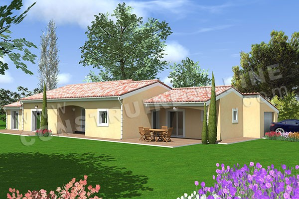 Plan maison 140m2 plain pied plan maison plain pied 3 for Maison contemporaine 140m2