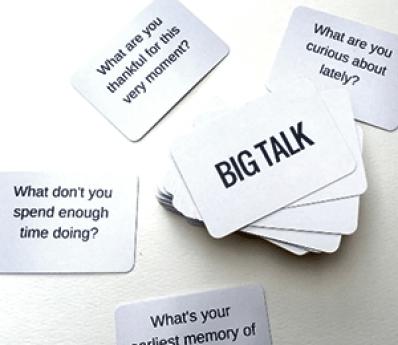 Cartes Big talk pour tenir une discussion intéressante