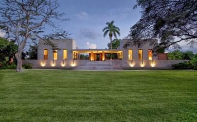 Diseño de moderna casa hacienda fachada y diseño de