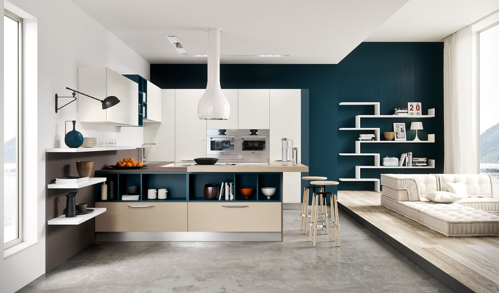Diseo de cocinas modernas al estilo arte pop  Construye Hogar