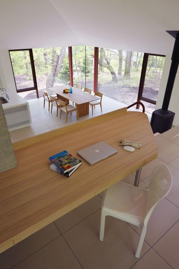 Diseo de casa de campo moderna construida en concreto