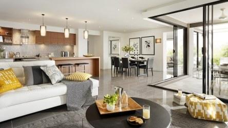 Casa de un piso moderna dos fachadas y diseño interior