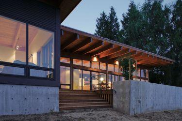 Diseño de casa de madera de una planta
