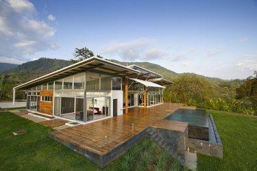 campo casa piso planos moderna diseno grandes construida abierta fachada muestra posterior exterior