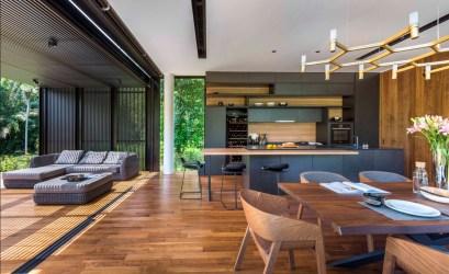 Diseño casa moderna terreno triangular