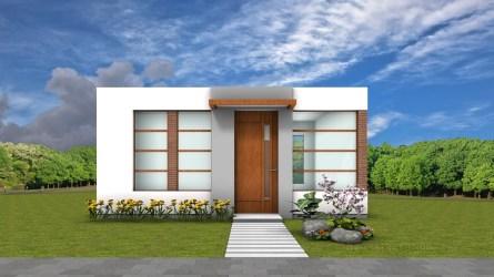 Planos de casa pequeña de 42 metros cuadrados