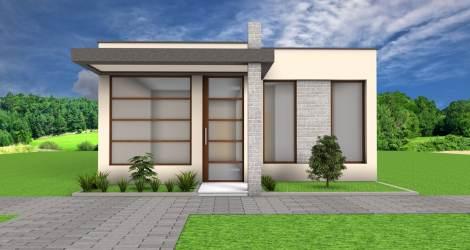 Idea de diseño casa pequeña un piso