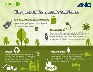 Tips para cuidar el Medio Ambiente