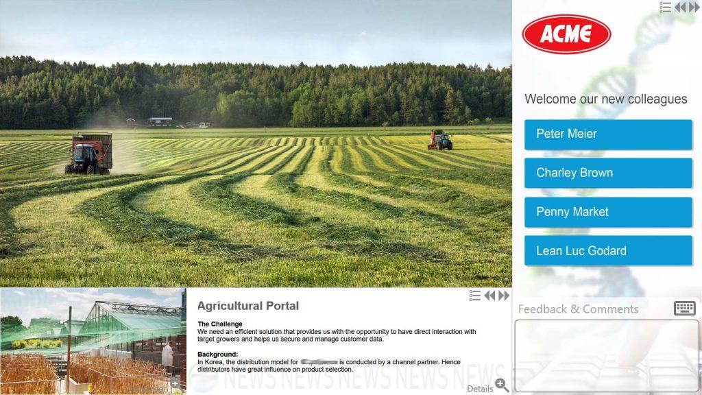 Digital-Collaboration-Panel, Bayer AG, Monheim, Digital Signage Interaktiv