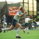 Steve Yates Celebrates Scoring for Tranmere Rovers v Everton in the FA Cup 4th round, 27 January 2001