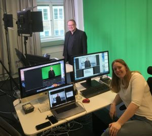 Emilia Åker and myself in the Accountor Training Studio